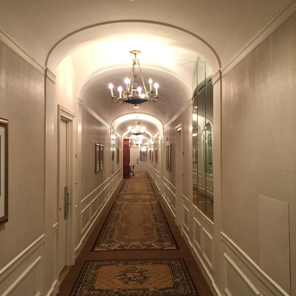 The hallways of the Towers of the Waldorf Astoria.