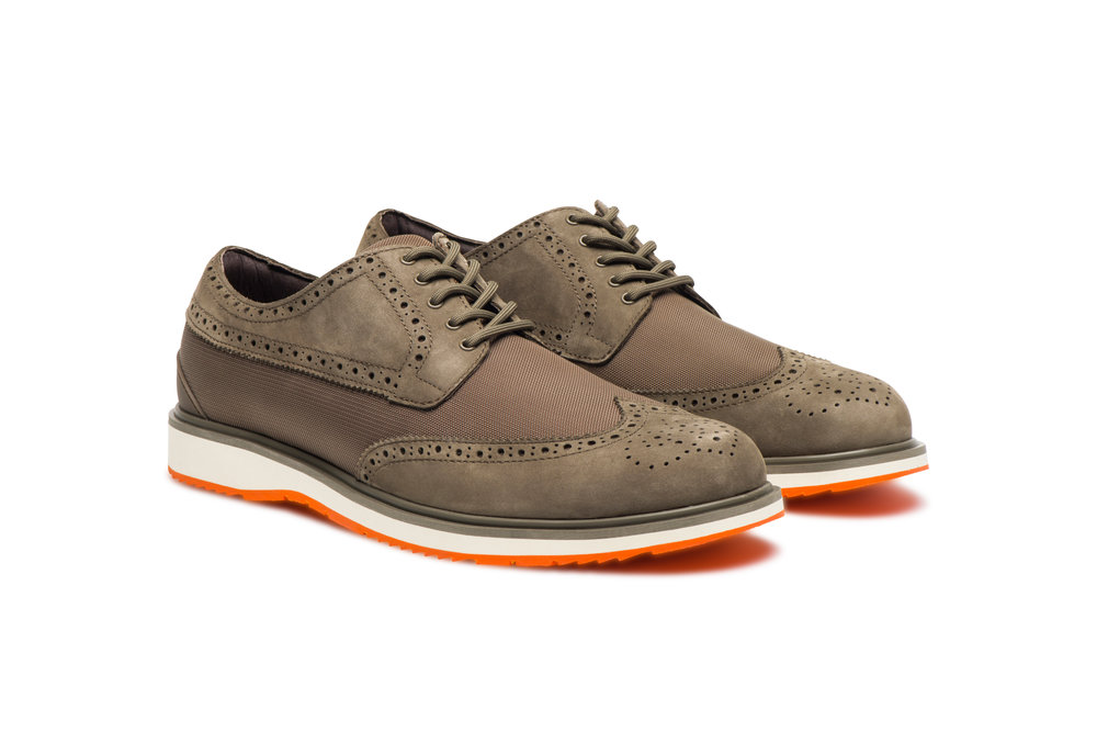Barry Brogue Low Taupe and Orange