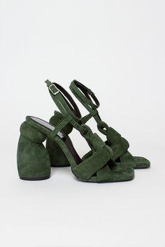 Green Heeled Sandal  http://ift.tt/2lXtGQo