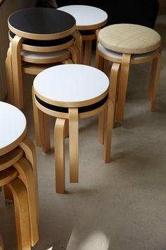 Alvar Aalto stools.   http://ift.tt/2dP6eSY