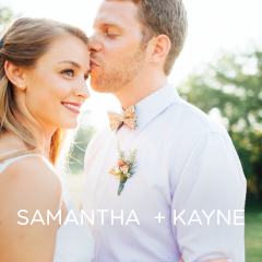 See Samantha and Kayne's DIY wedding.