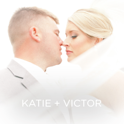 See Katie and Victor's elegant wedding.