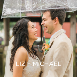 See Liz and Michael's hazy day wedding.