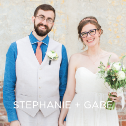 See Stephanie and Gabe's whimsical wedding day.