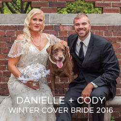 Gawk over our winter Cover Bride Danielle and her husband Cody.
