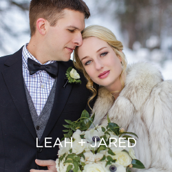 We can't get enough of Leah and Jared's winter wonderland Colorado wedding.