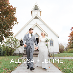 We heart Allissa and Jerime's small chapel wedding at Living History Farms.