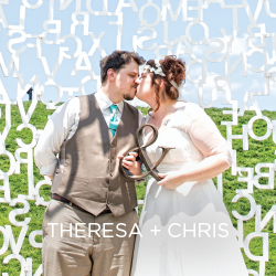 See Theresa and Chris' float away at their happy-go-lucky wedding day.