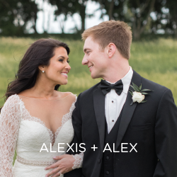 See Alexis and Alex's big day with a cherry on top.