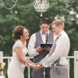 Meet Jami and Alex as they take their vows in their own way.