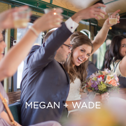 Megan and Wade celebrated with lots of friends and family by their side. See photos from their big day.
