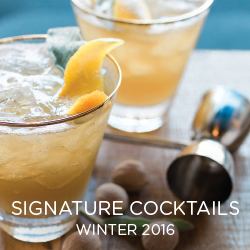 Signature cocktails can add a fun touch to your big day. See some of our winter favorites.