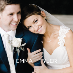 We heart this couple's first look! See that and all of Emma and Tyler's personal details for their big day!