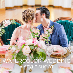 See the dress that inspired a Watercolor Wedding style shoot.