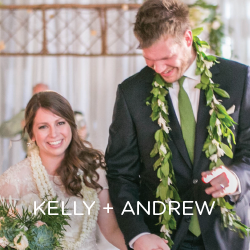 See Kelly and Andrew's Hawaiian traditions and personal touches.