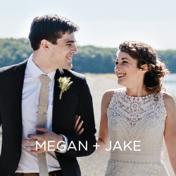See Megan and Jake's laid back approach to beautiful wedding style!