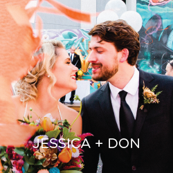 See how Jessica and Don created their colorful downtown DSM wedding. It's a unicorn's dream!