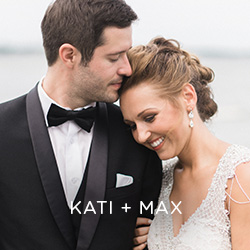 See Kati and Max's serene lakeside wedding at the family cabin in Clear Lake, IA. You won't want to miss that dress!