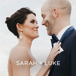 See Sarah and Luke's all-white wedding, downtown Des Moines. Those flowers … we can't EVEN …