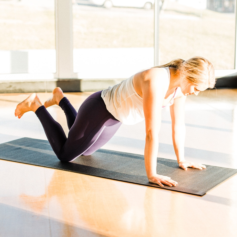 Kneeling Plank - Release to your knees to focus more on shoulder strength. Ensure your core stays active!