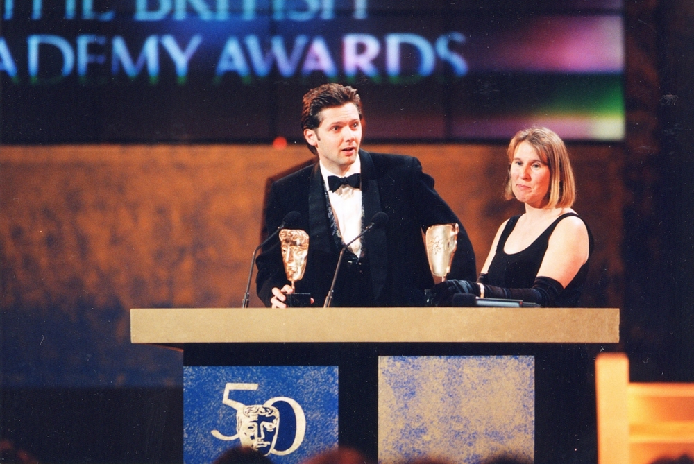 First BAFTA. With Anne Brogan at the Royal Albert Hall, 1996.