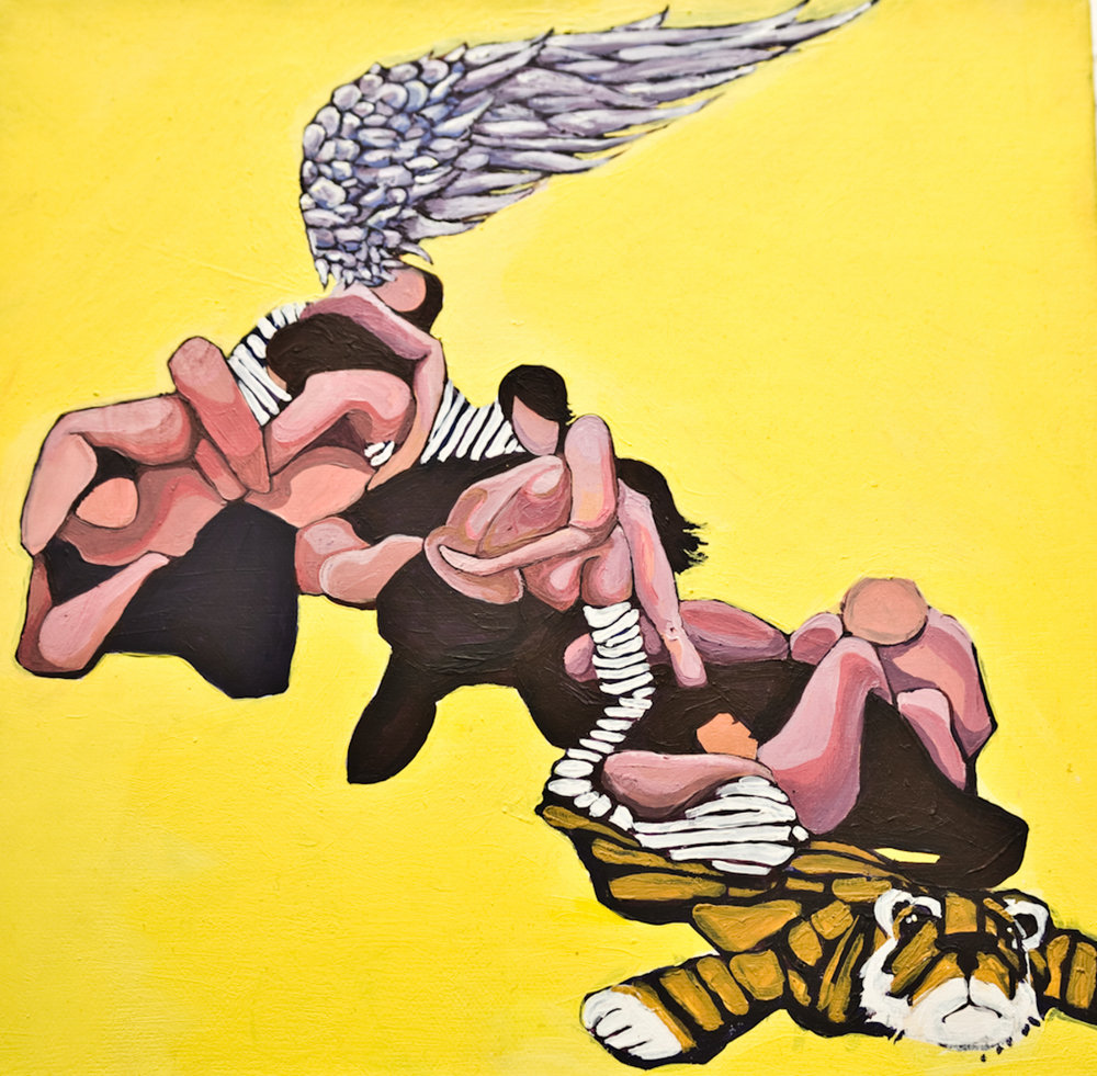 Clusterfuck II, Acrylic on Canvas, 10x10 in, 2009