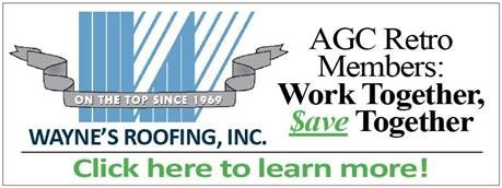 When AGC Members work together, we are able to save more. Learn more about how you can save by selecting Wayne's Roofing, Inc. as your roofing contractor.