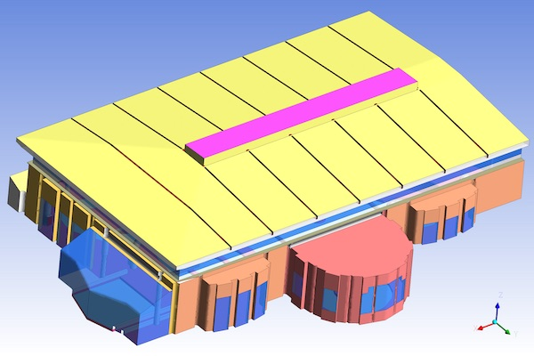 3D model of Swimming Pool Hall