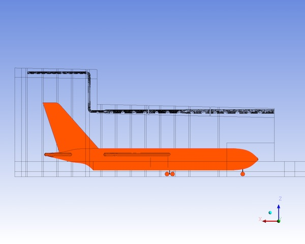 2D Model of Air craft Hangar