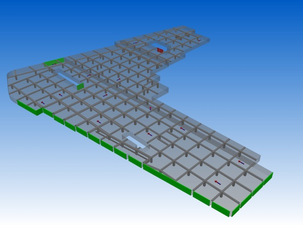 Analysis of car park ventilation - 3D Model