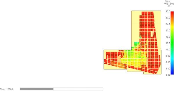 Car Park Basement CFD simulation - Visibility Profile