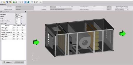 AHU Selection Software - Main Screen