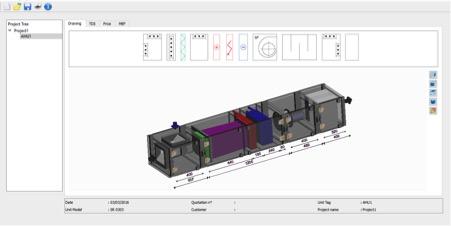 AHU Selection Software - 3D Screen