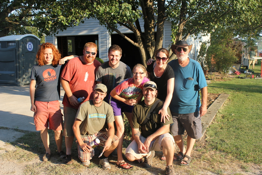 Heads of staff 2011 From left to right -  Recycling  - Elliott Beenk - Production  -Tim Roberts - Grounds Supervisor - Andy - Backstage Catering - Stacy Harper - Volunteer Coordinator - Josh Harper  - Box Office - Gara Luckett - RV Parking - Hank Beisman