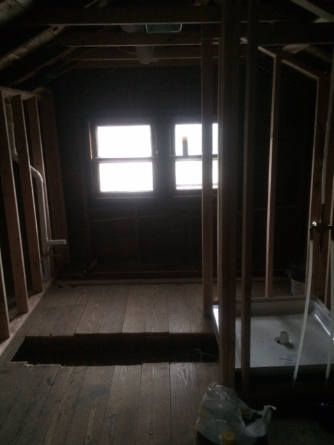 Master bath - There was a ton of unfinished space in the attic that we turned into an awesome walk in closet and bathroom