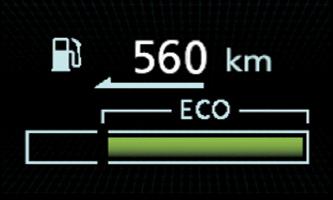 ECO DRIVE ASSIST   L'ECO DRIVE ASSIST visualizza in tempo reale lo stile di guida ECO.