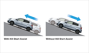 HILL START ASSIST - SISTEMA DI ASSITENZA ALLE PARTENZE IN SALITA