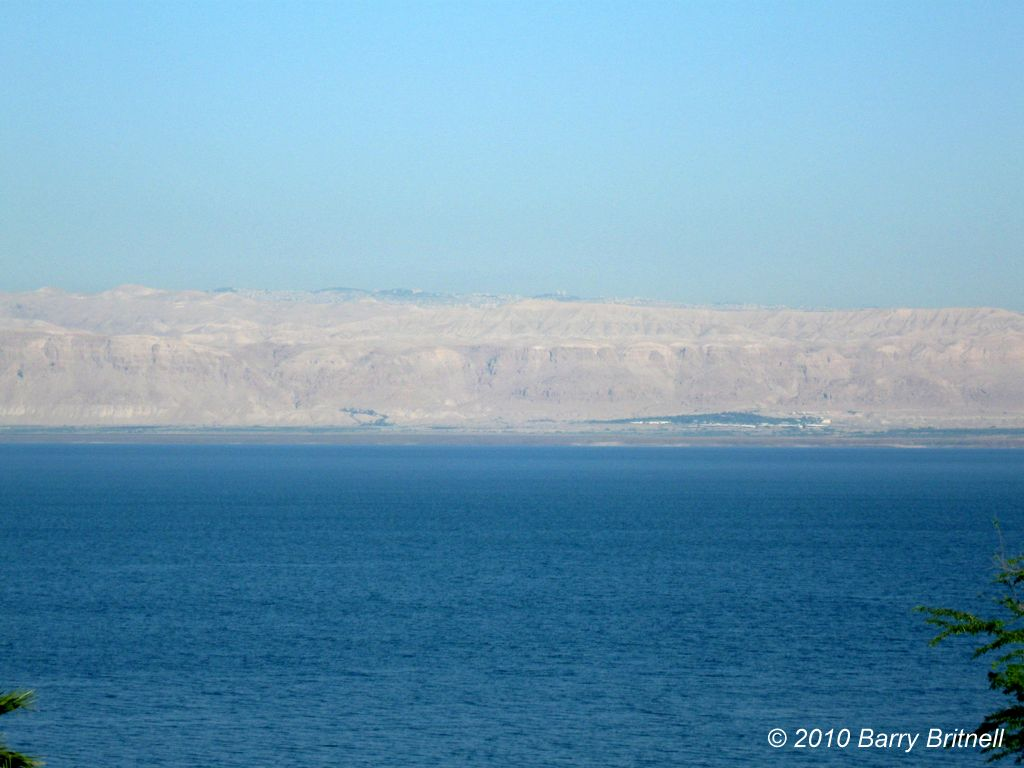 View of Jericho and Jerusalem from Dead Sea