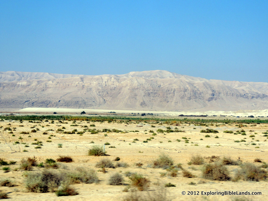 The Wilderness of Judea from the Dead Sea basin.