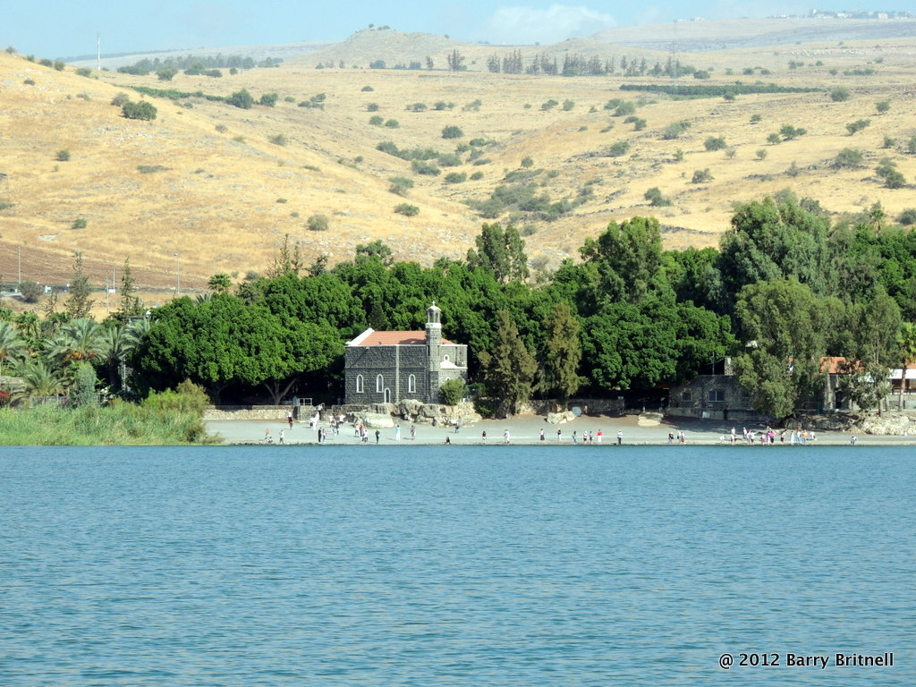 The Church of the Primacy of St. Peter, on the northwestern shore of the Sea of Galilee.