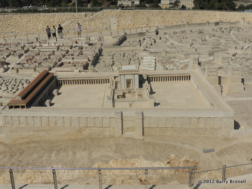 The Temple Mount representation at the Jerusalem Model at the Israel Museum.