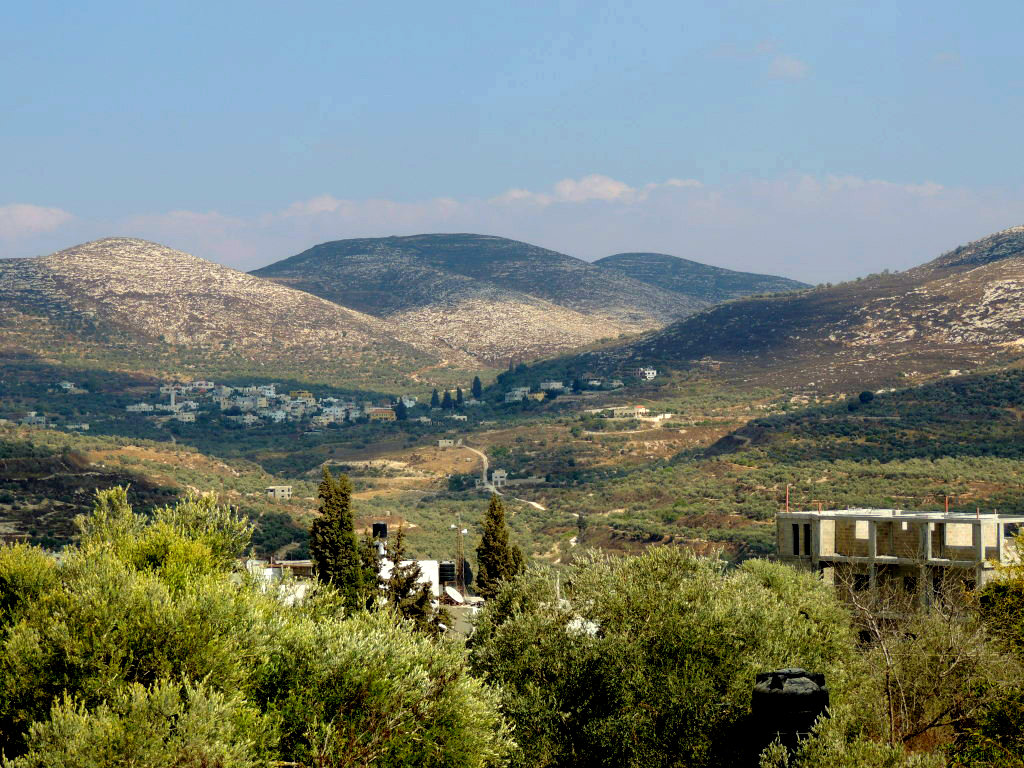 The mountains of central Samaria.