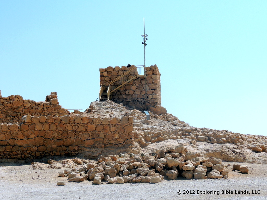 Some of the ruins on the plateau at Masada.