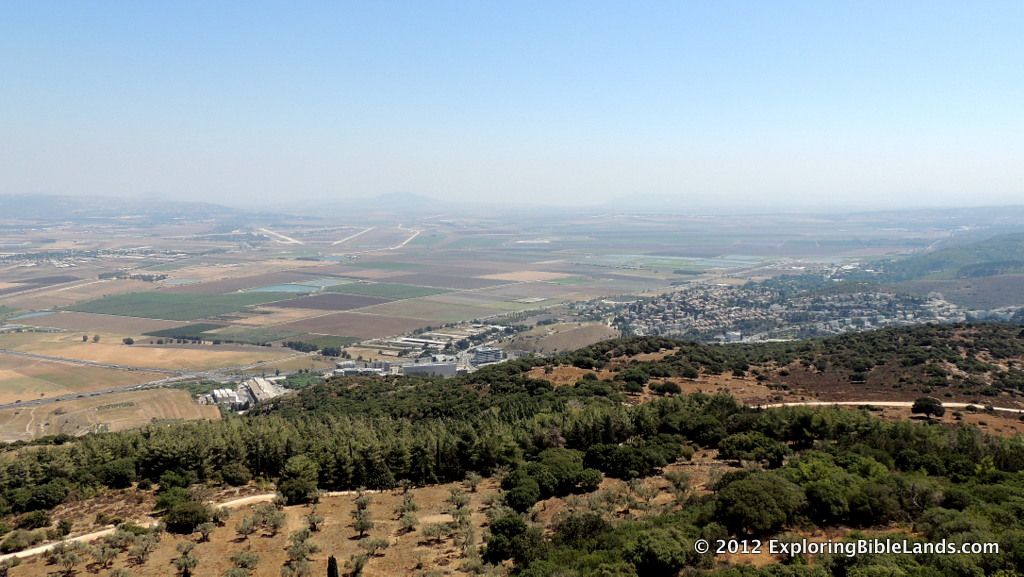 The Jezreel Valley, looking southeast from the top of Mount Carmel.