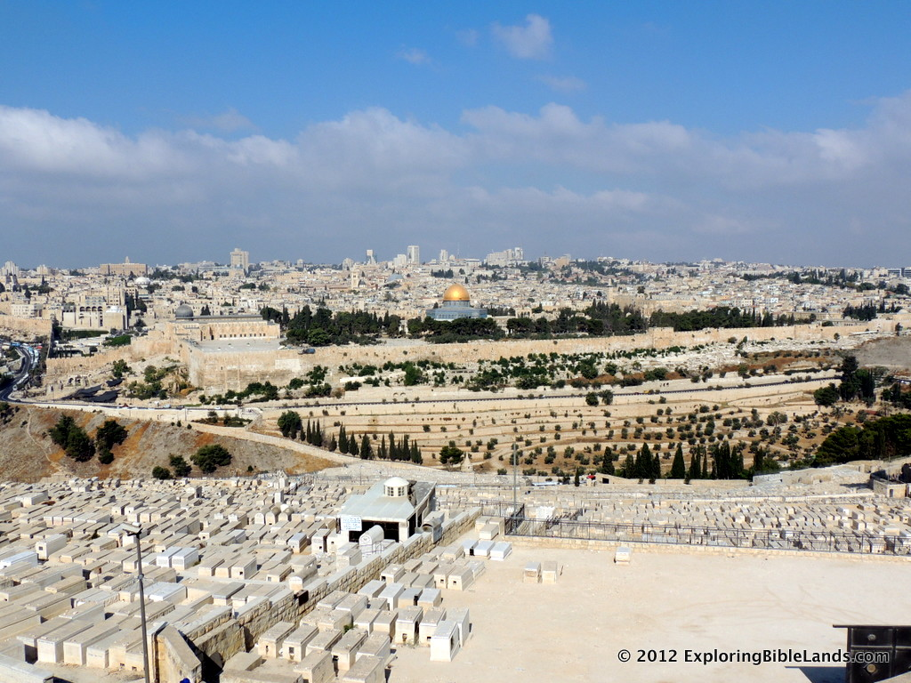 The city of Jerusalem, from the Mount of Olives.