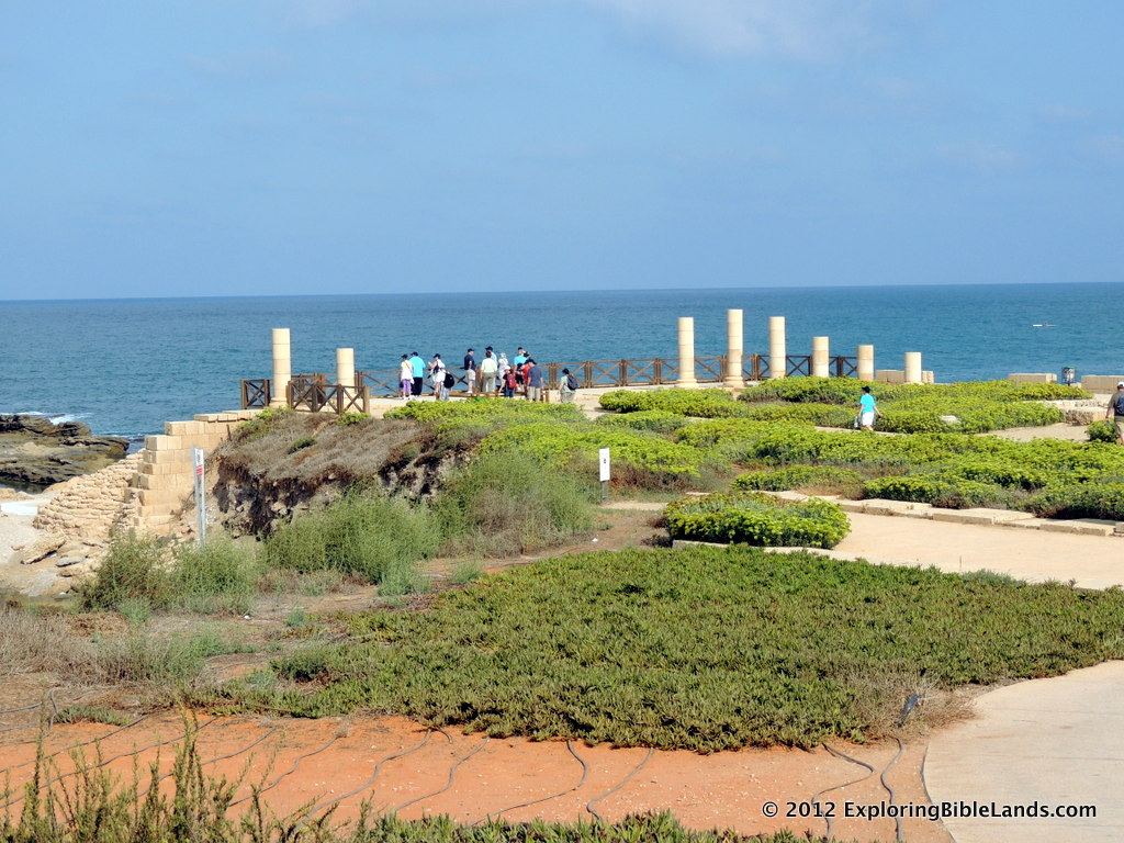 Herod's palace, overlooking the Mediterranean Sea at Caesarea Maritima.