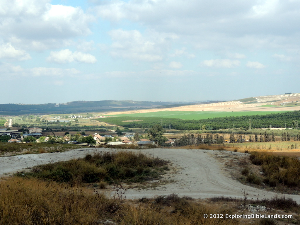 Looking west down the Sorek Valley from the tel at Beth Shemesh.