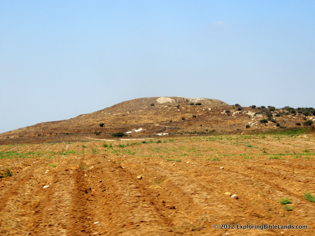 Tel Burna, located in the Shephelah, is one of the possible locations of Biblical Libnah.