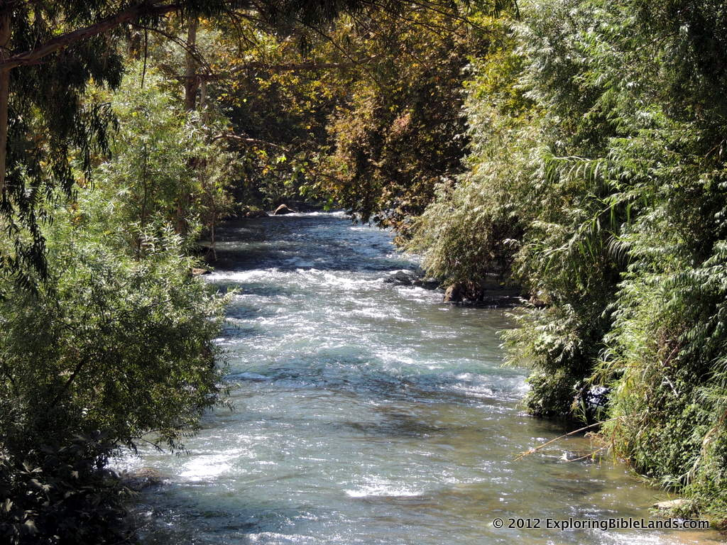 The Senir River in northern Israel.  The Senir River drains the snow melt from Mount Hermon into the Jordan River north of the Sea of Galilee.
