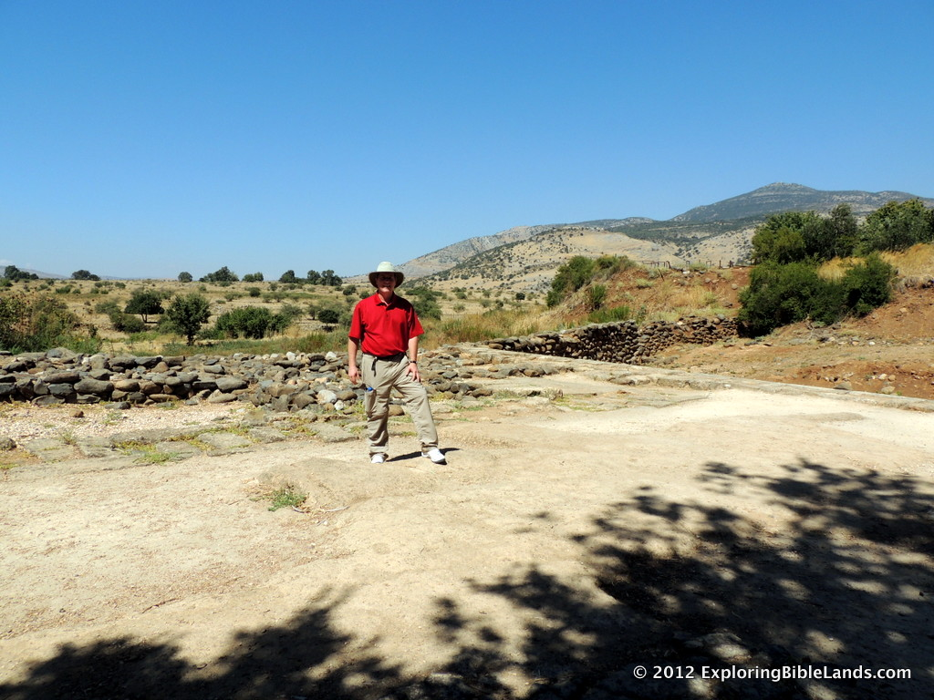 In Seth Rodriquez's blog post, he mentions seeing the High Place at Dan for the first time.  This is a picture of me standing on this place of worship, built by Jeroboam.
